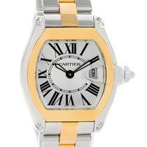 Cartier Roadster Ladies Steel Yellow Gold Quartz Watch W62026y4