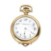 Waltham Circa 1950's Pendant Unisex Watch in 14KT Yellow Gold