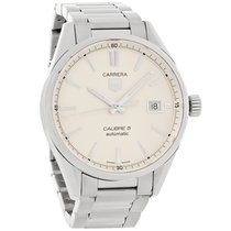 TAG Heuer Carrera Series Mens White Dial Swiss Automatic Watch...