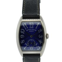 Franck Muller Cintree Curvex 18kt White Gold With Blue Arabic...