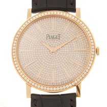 Piaget Altiplano 18 K Rose Gold With Diamonds Gold Manual Wind...