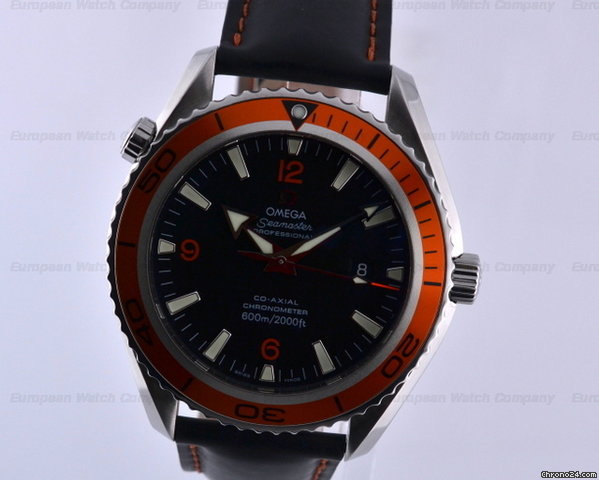 Omega Seamaster Planet Ocean Co-Axial Orange Bezel SS / Rubber 45.5MM
