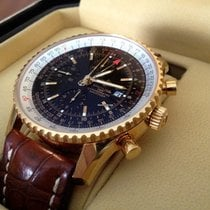 百年靈 (Breitling) Navitimer World Black Dial Yellow Gold 18 krt...