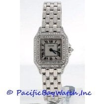Cartier Panther Ladies Pre-Owned Stainless Steel with diamonds