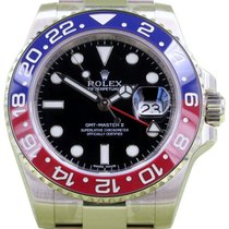 Rolex GMT-Master II 116719BLRO 116719 18k White Gold Pepsi Red...