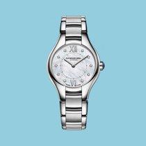 Raymond Weil Noemia Stahl, 10 Diamanten 24mm -NEU-