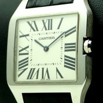 Cartier Santos Dumont XL, 18 kt White Gold, manual, full set