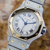 Cartier Santos Quartz 18k And Stainless Steel Watch C2000 L159