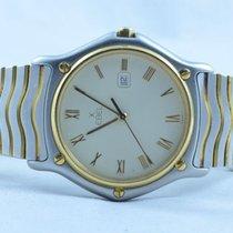 Ebel Sport Classique Herren Uhr Stahl/750 Gold 37mmnquartz Top...