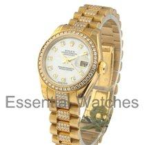 Rolex Unworn 179138 Ladies Yellow Gold President with Diamond...