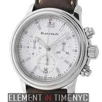 Blancpain Leman  Chronograph Stainless Steel White Dial 38mm...