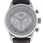 Oris Artelier Chronograph Stahl Automatik Lederband 43mm