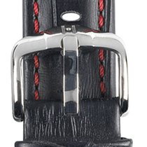 Hirsch Uhrenarmband Grand Duke schwarz L 02528050-2-20 20mm