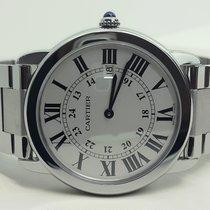 Cartier RONDE SOLO LM, st, mvt QTZ, dial SILV, Modell GRANDE