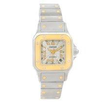 Cartier Santos Small Steel 18k Yellow Gold Watch W20057c4