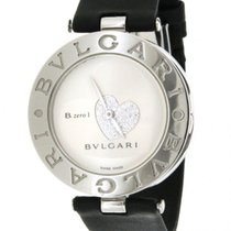 Bulgari B-zero 1 Bz35s In Steel And Leather, 35mm