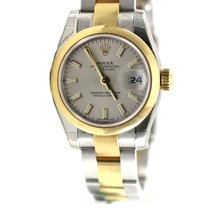 Rolex Datejust ladies 26mm oyster yellow gold beige 179163 NEW