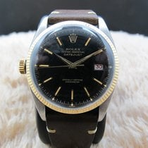 Rolex DATEJUST 6305 LEFT HANDED Ovettone Bubbleback with Gilt...