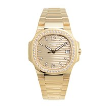 Patek Philippe New  Nautilus 18 K Rose Gold With Diamonds Gold...