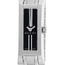 Gucci 110 Stainless Steel Womens Fashion Watch Black Dial...