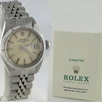 Rolex Ladies Rolex Date Stainless Steel Silver Dial Watch...