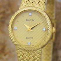 Elgin Swiss Made Ladies Gold Plated Luxurious 22mm Quartz...