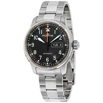 Fortis Flieger Professional Black Day/Date Dial Automatic...