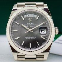 Rolex 228239 Day Date President 18K White Gold Rhodium Dial...