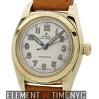 Rolex Oyster Perpetual Bubble Back 14k Yellow Gold Silver Dial...