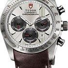 Tudor Fastrider Silver Dial Chronograph Brown Leather Men'...