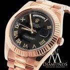 Rolex Presidential Rolex Day-date Ii 218235 Black Dial W/...