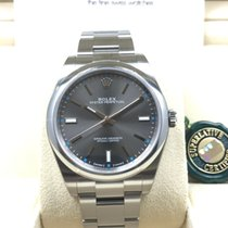 Rolex Oyster Perpetual Dark Rhodium Grey Index Dial 39mm [NEW]