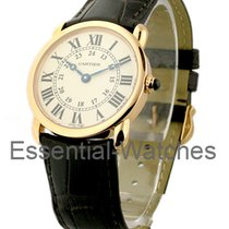 Cartier W6800151 Ronde Louis Cartier in Rose Gold - on Brown...