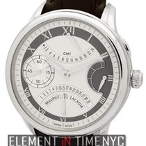 Maurice Lacroix Masterpiece Double Retrograde GMT Silver Dial...
