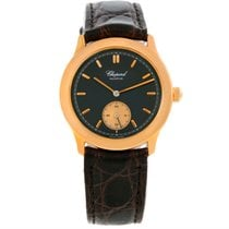 Chopard Classique 18k Rose Gold Black Dial Watch 16/1168