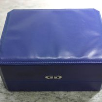 Gérald Genta vintage watch box blu leather big size
