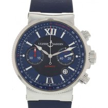 Ulysse Nardin Men's  Marine Chronograph 353-66 W/ Papers