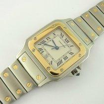 Cartier Santos Galbée Ref 1566 Stahl/ Gold Quarz 29 Mm Two-tone