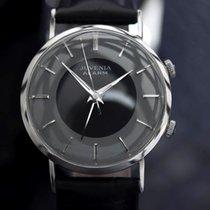 Juvenia Rare Mens Swiss Vintage Alarm Manual Wind Dress Watch...