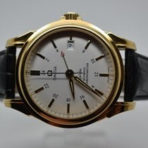 Omega DeVille De Ville Co-Axial GMT 18k Yellow Gold
