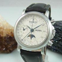 Nivrel Chronograph Mondphase Voll-kalender Automatik Glasboden...