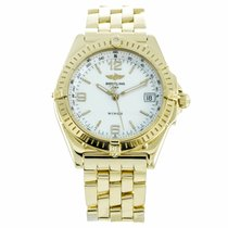 Breitling Wings 18K Yellow Gold Mother of Pearl Watch K10050...