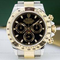 Rolex 116523 Daytona Black Dial 18K / SS (25882)