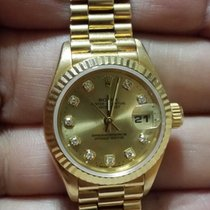 Rolex Datejust lady gold diamond and rubins