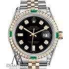 Rolex Ladies Rolex Steel&gold 26mm Datejust Watch Black...