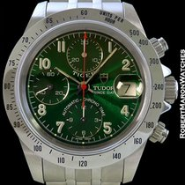 Tudor Tiger Chronograph Green Dial New Box Papers 79280