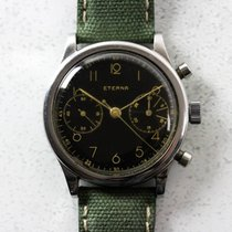 Eterna Vintage Gilt Clamshell Chronograph