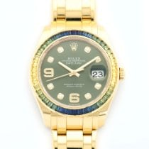 Rolex Datejust Pearlmaster Yellow Gold Sapphire Ref. 86348SABLV