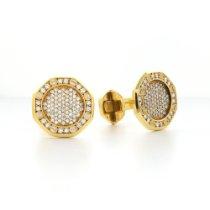 Audemars Piguet Yellow Gold Royal Oak Diamond Cufflinks
