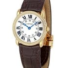 Cartier Ronde Louis Cartier in Yellow Gold with Diamond Bezel